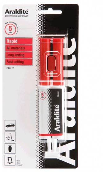 Two components adhesive for crack measurers, from ARALDITE. cnt. 11.10 €