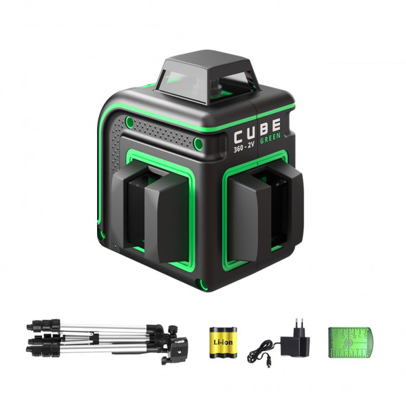 PROMOTION! Laser level ADA CUBE 360-2V GREEN Professional Edition. CALIBRATED!. cnt. 215.00 €