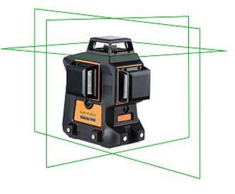 Geo6X SP GREEN KIT - 3 x 360° line 3D green laser level kit in the hard case. CALIBRATED!. cnt. 390.00 €
